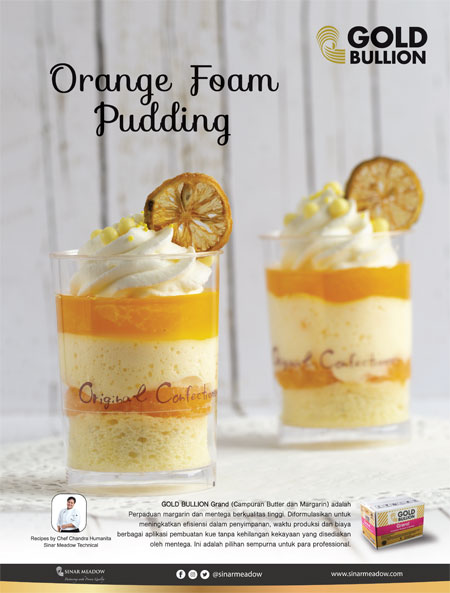 Orange Foam Pudding By Gold Bullion