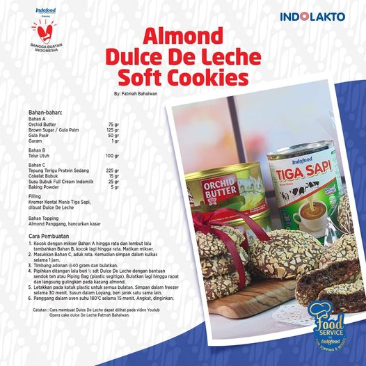 Resep Almond Dulce De Leche Soft Cookies By INDOLAKTO