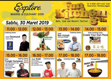 Acara Demo Baking Fun Kitchen 8th 2019 On Saturday