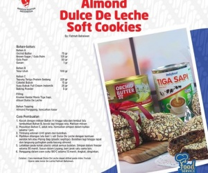 Resep Almond Dulce De Leche Soft Cookies By INDOLA...